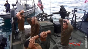 U.S. Navy sailors are detained by Iranian Revolutionary Guards in the Persian Gulf, Iran, as pictured in a frame grab of a video released Tuesday by...